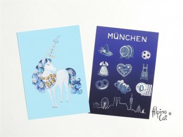 Bayern Postkarten Set, 4 Postkarten im Set