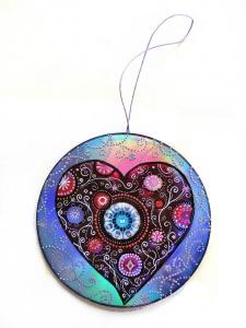 Herz ☆ Dekoration ☆ gemalt auf CD
