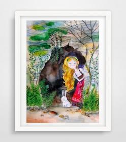 Alice im Wunderland Poster ♥ Alice Bild ♥ Digitaldruck A4, 300 g/m2 Qualitätsdruck