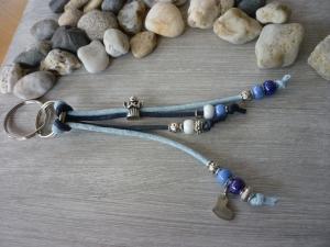 Taschenanhänger / Schlüsselanhänger 'Schutzengel' Blau / Hellblau / Silber