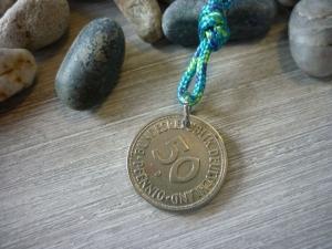 50. Geburtstag Handgemacht Jubiläum Bunt Vintage 1970 50-Pfennig-Stück Geburtstagsgeschenk - Handarbeit kaufen