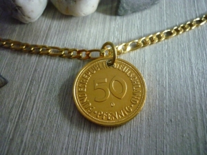 Kette zum 50. Geburtstag / Jubiläum Vintage Geschenk 1969
