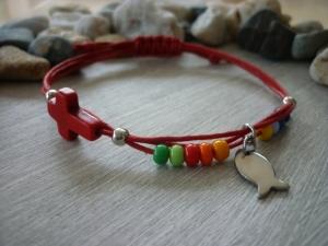 Armband handgemacht und bunt / Geschenk zur Kommunion, Konfirmation und vielen anderen Anlässen