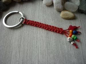 Handgearbeiteter, farbenfroher Schlüsselanhänger zur Kommunion  - Handarbeit kaufen