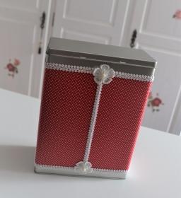 Vorratsdose mit Stoff bezogen rot-weiß - Handarbeit kaufen