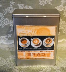 Vorratsdose Motiv Kaffeetassen-Kaffeebohnen - Handarbeit kaufen