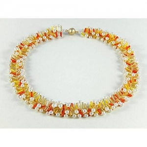 Perlenkette Kette Halsschmuck Geschenk Sommerkette - Handarbeit kaufen