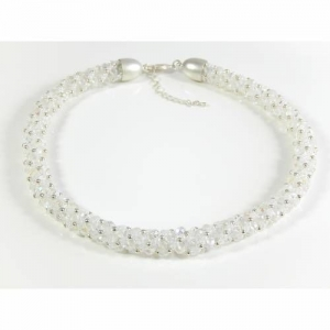 Opulente Glasperlenkette Halsschmuck Brautkette Muttertagsgeschenk - Handarbeit kaufen