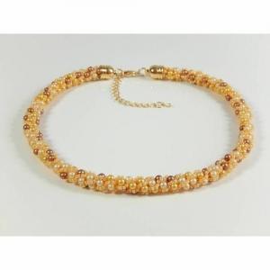 Häkelkette Kette Perlenkette Geburtstagsgeschenk Geschenkidee  - Handarbeit kaufen