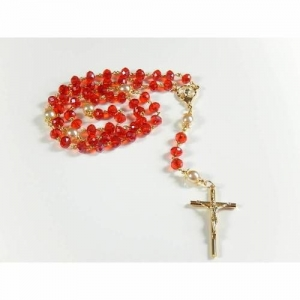 Rosenkranz Kette Gebetskette Taufgeschenk Rosenkranzkette - Handarbeit kaufen