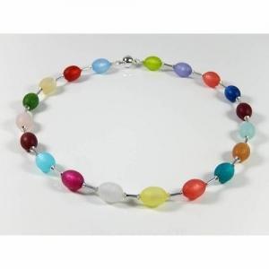 Bunte Polariskette Halsschmuck Kette Perlenkette Weihnachtsgeschenk  - Handarbeit kaufen