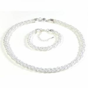 Schmuckset Häkelkette und Armband Brautschmuck Geschenk - Handarbeit kaufen