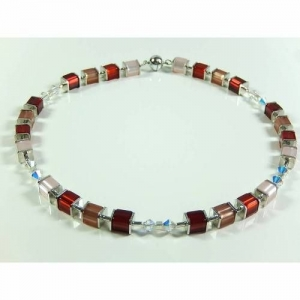 Rote Polariskette Kette Perlenkette Weihnachtsgeschenk - Handarbeit kaufen