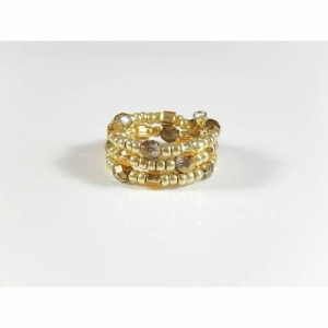Goldfarbener Spiralring Ring Fingerring Geschenk Geburtstag - Handarbeit kaufen