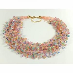 Mehrstrangkette Häkelkette Halskette Statementkette Geschenkidee Muttertag  - Handarbeit kaufen
