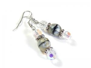 Ohrringe Ohrhänger Ohrschmuck aus Glasschliffperlen Unikat  - Handarbeit kaufen