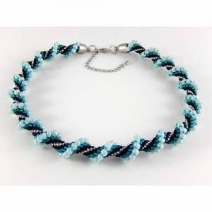 Kette Häkelkette Perlenkette Halsschmuck Damenschmuck Geburtstagsgeschenk - Handarbeit kaufen