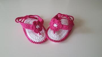 Handgehäkelte Baby-Sandalen/Flip-Flops in vielen Farben erhältlich