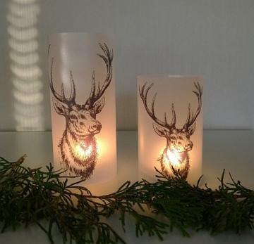Lichthülle Weihnachten Hirschkopf ♥