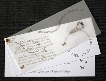 Einladungskarte Taufe ♥