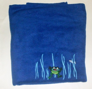 Krabbeldecke Ferdinand Frosch aus Fleece