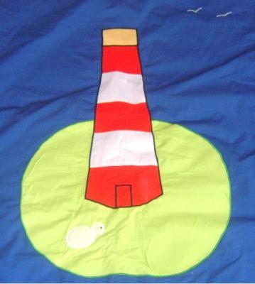 Krabbeldecke Leuchtturm 150x150 cm