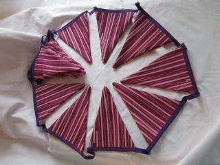 Girlande, Wimpelkette , handmade, 3,20 m, Gartendeko - Handarbeit kaufen