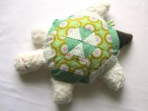 Schildkröte  mit Rassel, Kuscheltier aus Baumwolle, pink blau,  handmade, Patchwork (Kopie id: 100075575)