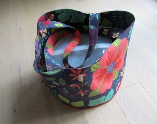 Tortentasche, Kuchentasche Blumen, Shopper, selbstgenäht, / handmade