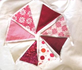 Wimpelkette rosa ( 3 m / 15 Wimpel), Girlande,  - Handarbeit kaufen
