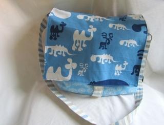 Umhängetasche, Schultertasche,  Motiv: blau mit Elch, - Handarbeit kaufen