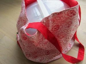 Einkaufstasche, Kuchentasche, Tortentasche Rosen,  handmade, - Handarbeit kaufen