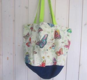 Einkaufstasche, Tortentasche, Universaltasche , Schmetterlinge, handmade, - Handarbeit kaufen