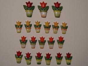 20 Tulpen-Streuteile aus Polyresin (Restbestände)