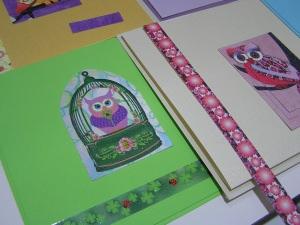 Eulenkarten zum Selber basteln (Set 11)