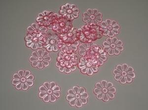Transparente Blüten in rosa (25 Stück)