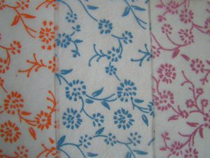 10 Vliese mit Blumendruck (letztes Set)