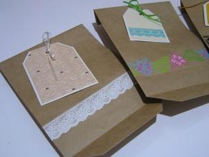 3 handdekorierte Geschenktüten (Set 10)