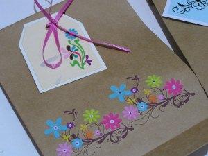 3 handdekorierte Geschenktüten-Einzelstücke- (Set 9)