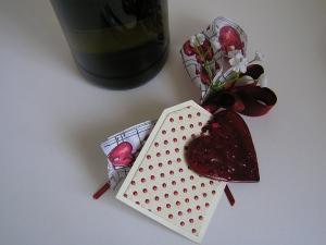 Schleife für Flaschengeschenk -Einzelstück-