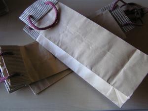 5 Naturpapiertüten für Flaschen zum Basteln (Restbestände)