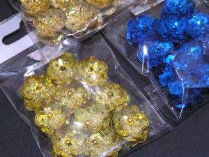 Paillettenblümchen in 5 Farben -Restbestände-
