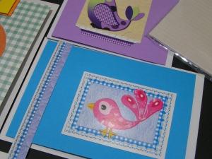 Vogelkarten zum Selber basteln (Set 11) -Einzelset-