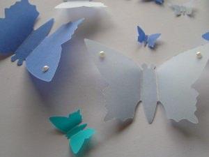 12 Schmetterlinge in 3 Farben und in 4 Größen
