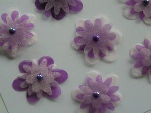 10 mehrfache Organzablüten mit Perlen