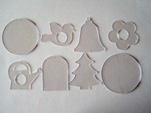 Acrylornamente zum Auswählen (Restbestände)