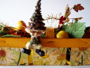 kleines handbemaltes,dekoriertes Körbchen -Einzelstück-