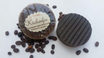 Kaffeeseife Küchenfee mit Lanolin handgesiedet