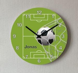 Kinder Wanduhr Fußball Mädchen Jungen Uhr 25 cm Uhr Kinderzimmer