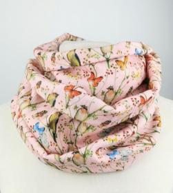 Musselin Loop Schal mit Schmetterlingen und Vögeln ☆ kostenloser Versand ☆ Handmade